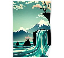 Waterfall blossom dream Poster