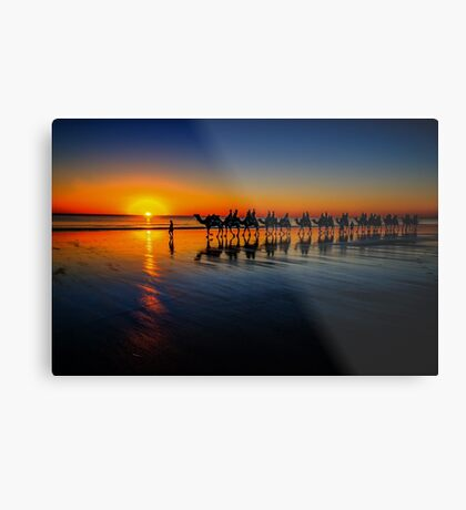 Cable Beach Camels Metal Print