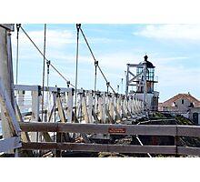 Point Bonita Lighthouse Bridge Photographic Print