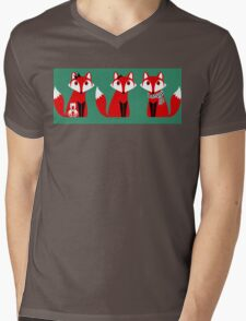 FOX TRIPLETS Mens V-Neck T-Shirt