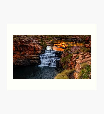 Sunrise at Bell Gorge  Art Print