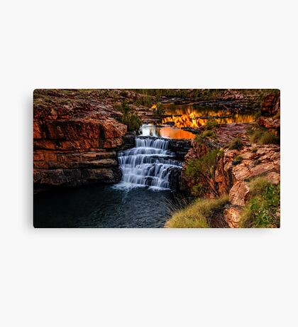 Sunrise at Bell Gorge  Canvas Print