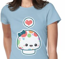 Cute Mushroom with Bow Womens Fitted T-Shirt