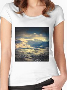 Borrowdale Valley Women's Fitted Scoop T-Shirt