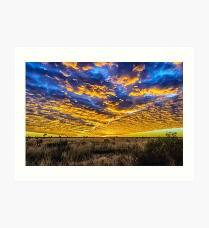 Tanami Desert Sunset Art Print