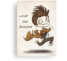 "Doctor Who - ""Love the Running"" Canvas Print"