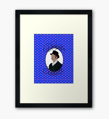 Dwight Schrute - Garden party, Blue Framed Print