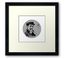 Chaplin with Flower Framed Print