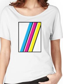 CMYK Stripe Graphic Women's Relaxed Fit T-Shirt