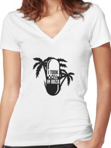 I Took A Pill In Ibiza Women's Fitted V-Neck T-Shirt