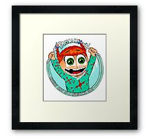 Pancake Girl Framed Print