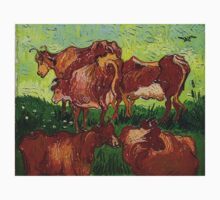 'Les Vaches' by Vincent Van Gogh (Reproduction) Baby Tee