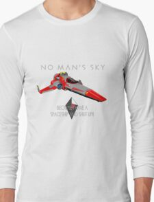 """No Man's Sky """"I have a Spaceship and Shut Up"""" 2 Long Sleeve T-Shirt"""