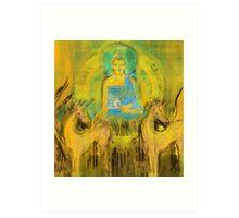 Ratnasambhava amongst horses Art Print