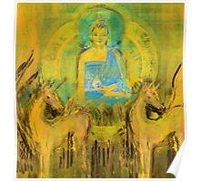 Ratnasambhava amongst horses Poster