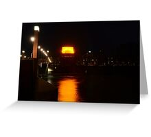 The roof is on fire Greeting Card