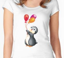 penguins in Antarctica  Women's Fitted Scoop T-Shirt