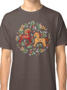 Folk horses pattern  Classic T-Shirt