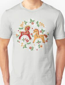 Folk horses pattern  Unisex T-Shirt