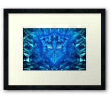 Deep Ice Blue - Sub Zero Transformers Wolf Mask Portait  Framed Print