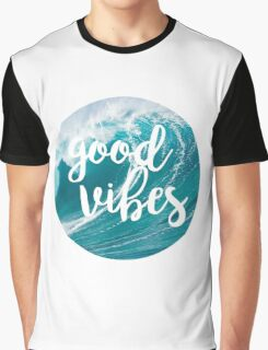 Good Vibes: Waves Graphic T-Shirt