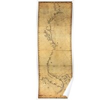 Map of North America Cape Cod to Havannah (1784) Poster