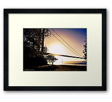 Sun rise over the bridge Framed Print