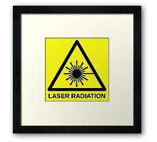 Laser Radiation Symbol  Framed Print