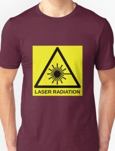 Laser Radiation Symbol  Unisex T-Shirt
