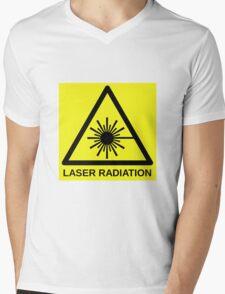 Laser Radiation Symbol  Mens V-Neck T-Shirt