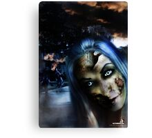 Zombie In the street Canvas Print