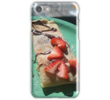 Strawberry & Raspberry Nutella Crepes iPhone Case/Skin