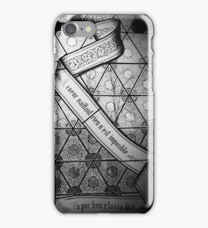 Nothing is impossible for a brave heart iPhone Case/Skin