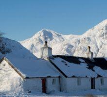 Scottish Highlands in Winter Sticker