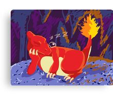 Sleeping Charmeleon Canvas Print