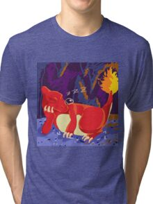 Sleeping Charmeleon Tri-blend T-Shirt