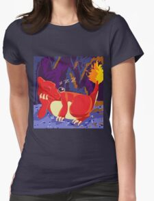 Sleeping Charmeleon Womens Fitted T-Shirt