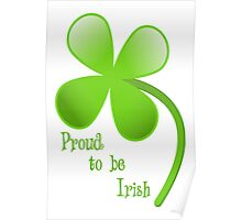 Proud to be Irish Poster