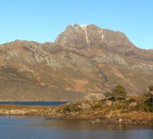 Slioch and Loch Maree Wester Ross Scotland Sticker