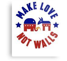 Make love, not walls Metal Print