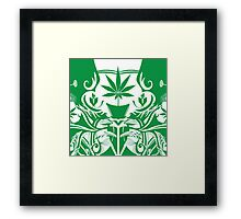 Cannabis Illustration in the Art Nouveau Style Framed Print
