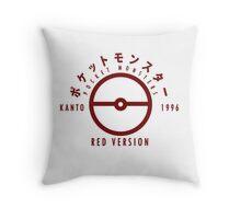 Pokemon Red Version Throw Pillow