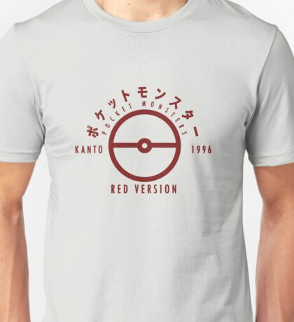 Pokemon Red Version Unisex T-Shirt