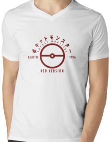 Pokemon Red Version Mens V-Neck T-Shirt