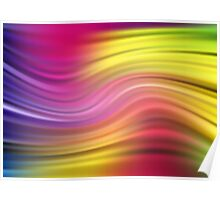Abstract modern wavy flowing silk Poster
