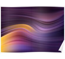 Abstract modern wavy background elegant wave Poster