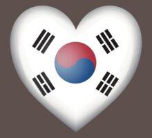 South Korean Heart Flag One Piece - Short Sleeve