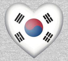 South Korean Heart Flag Kids Tee