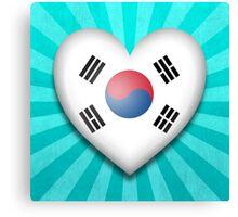 South Korean Heart Flag Canvas Print