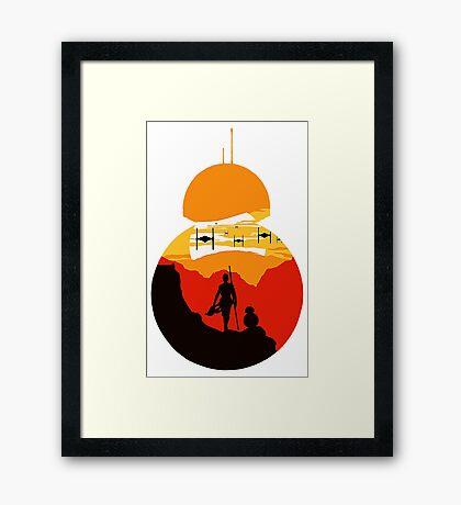 Star Wars VII - BB8 & Rey 2 Framed Print